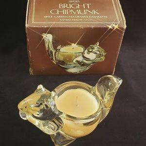 Vintage Avon Bright Chipmunk Candle, 1978